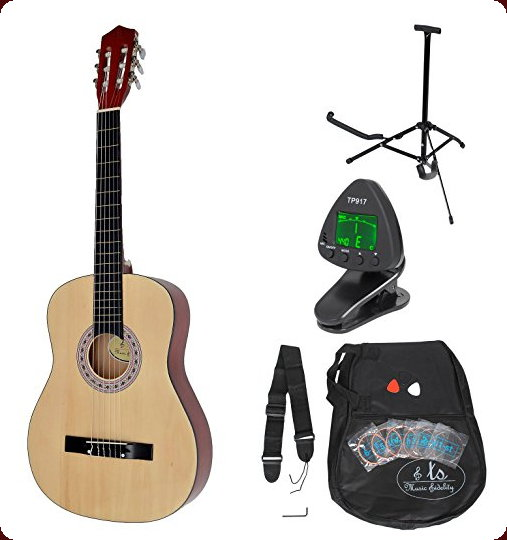 Guitarra clásica concierto completa con accesorios